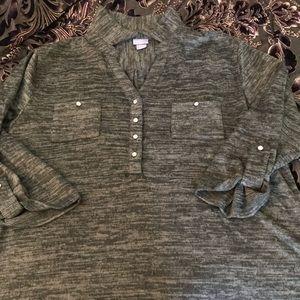 Laura Scott women's XL button down shirt